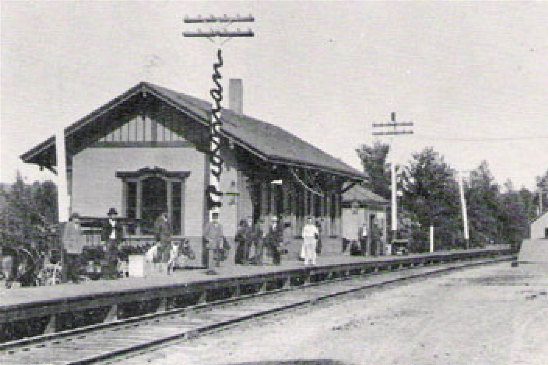 In 1849, the Androscoggin and Kennebec Railroad runs its first train to the Readfield Depot, only miles from the school.