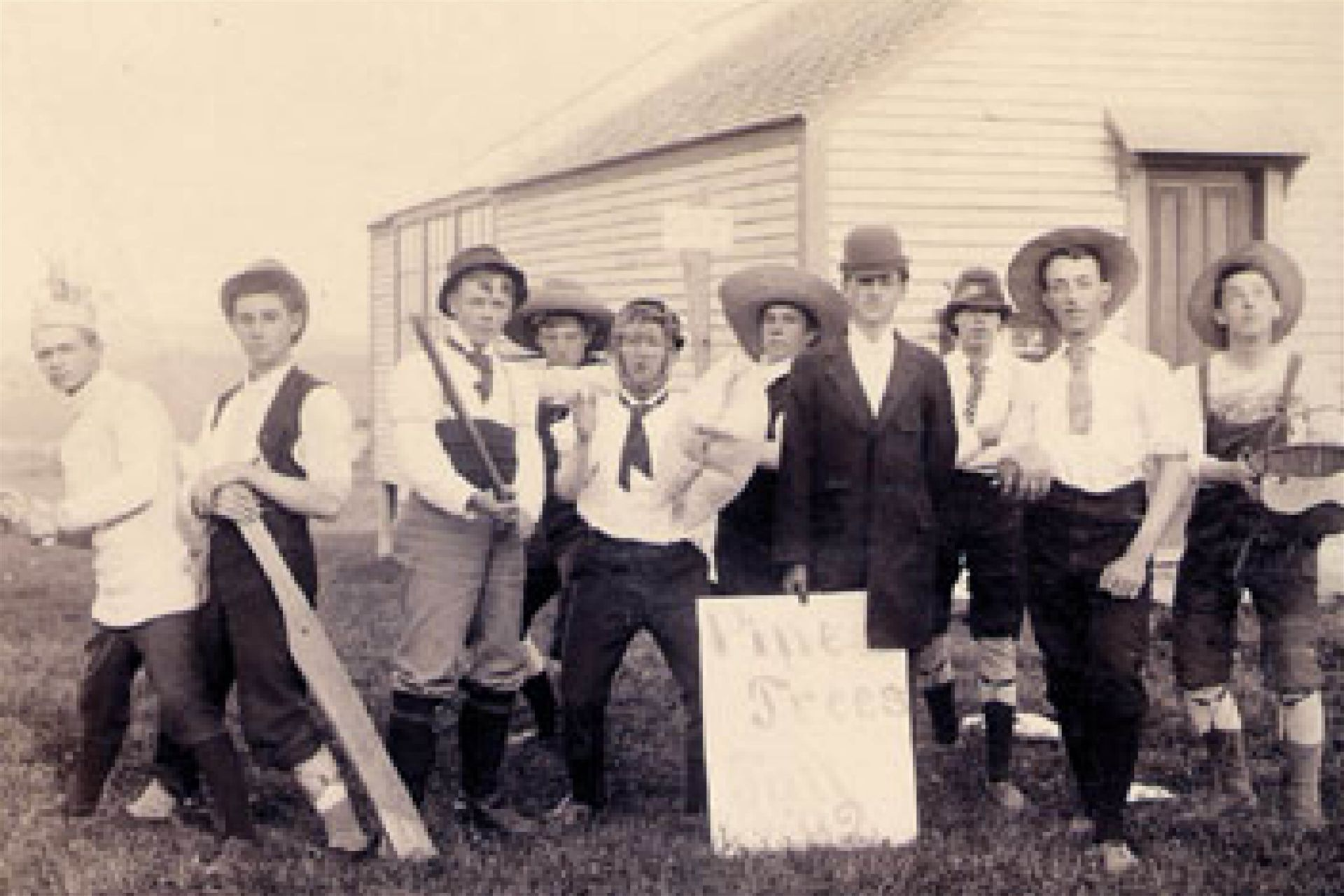 1861: Baseball is introduced to school.