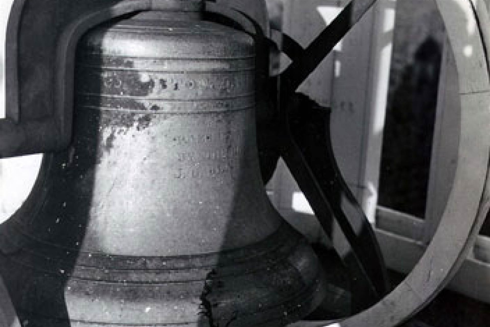 The Bearce Hall bell, donated by the Honorable James G. Blaine.