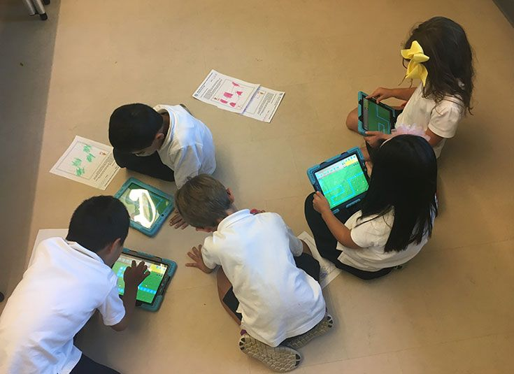 Lower grades use iPads for projects