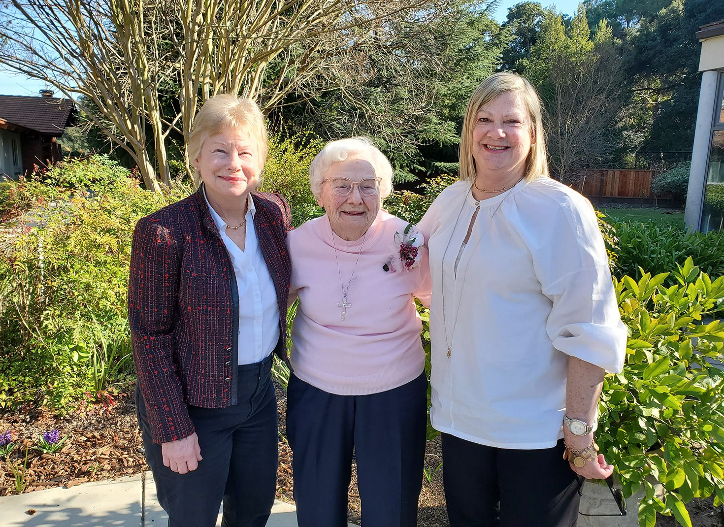 Friends visit Sr. Lil Conaghan for her birthday