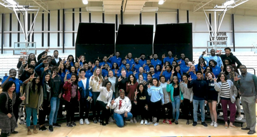 Langston University choir visits Middle and Upper School students.