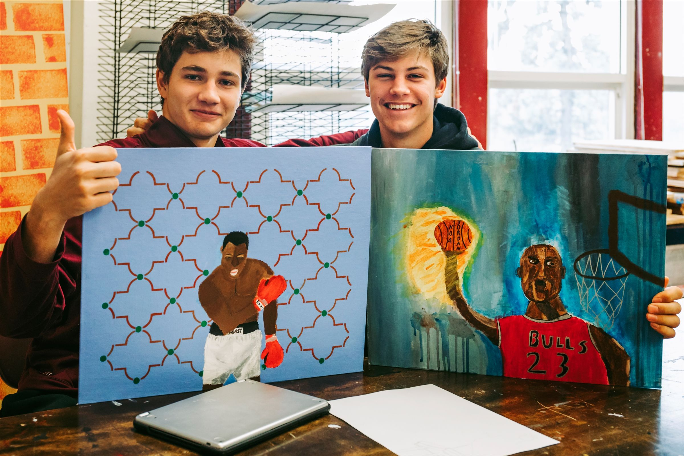 Students are exposed to a wide array of 2-D and 3-D media, styles, and techniques, allowing students to unleash their inner creativity in exciting, project-based learning. Classes include Studio Art I, Studio Art II, Studio Art III, and AP Art and Design.