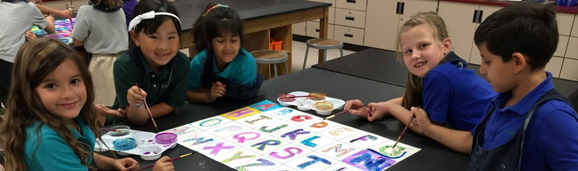 Lower School students create visual art.