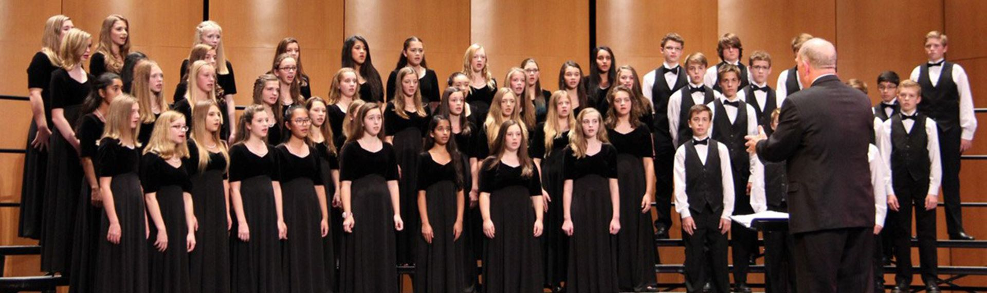 Upper School students perform at choir concert.