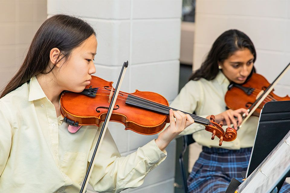 The GPS instrumental music curriculum boasts one of the largest performance-aimed programs in the area