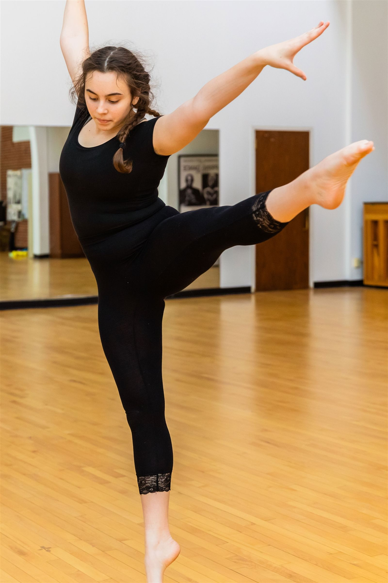 GPS student dancing in dance studio