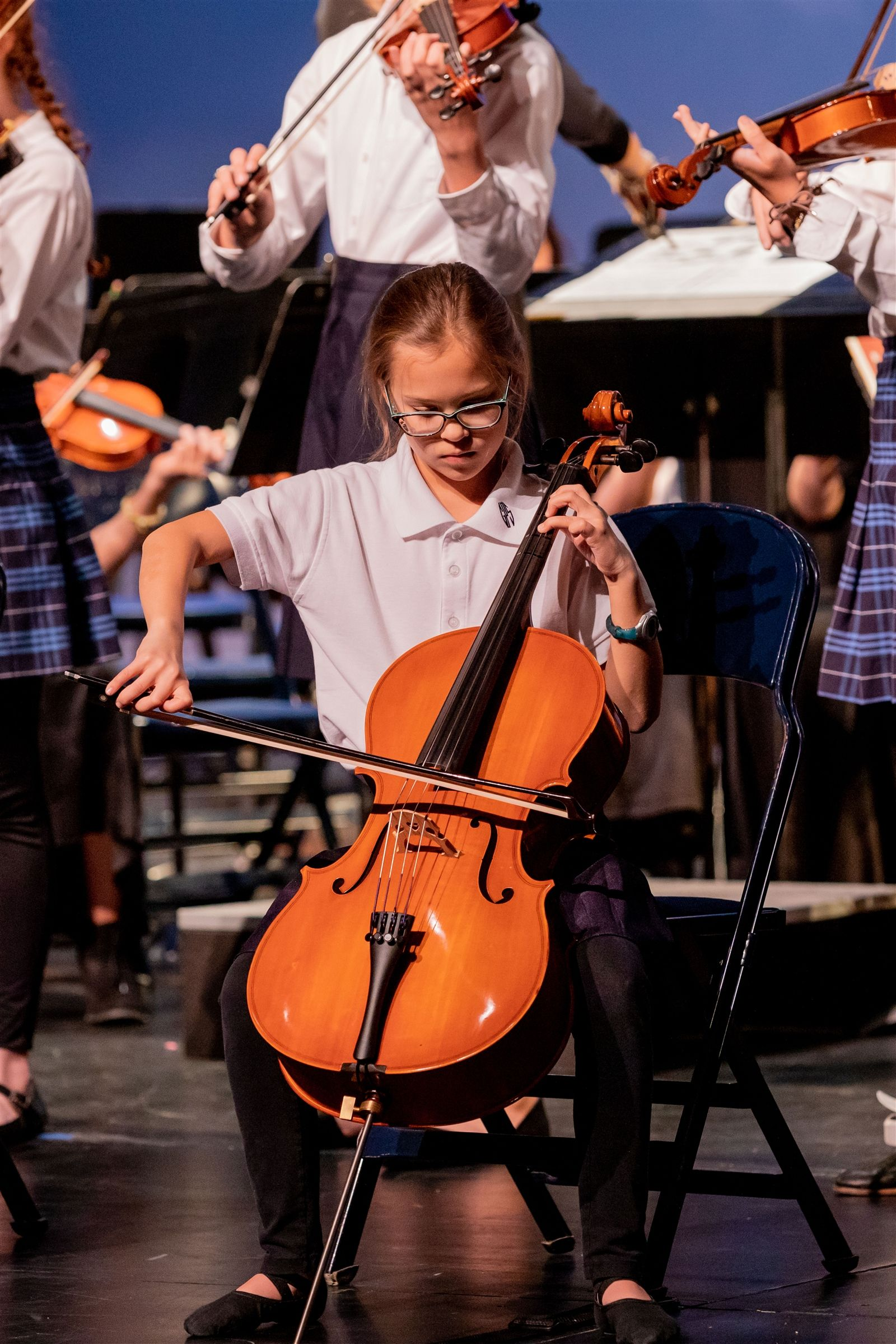 GPS student playing cello