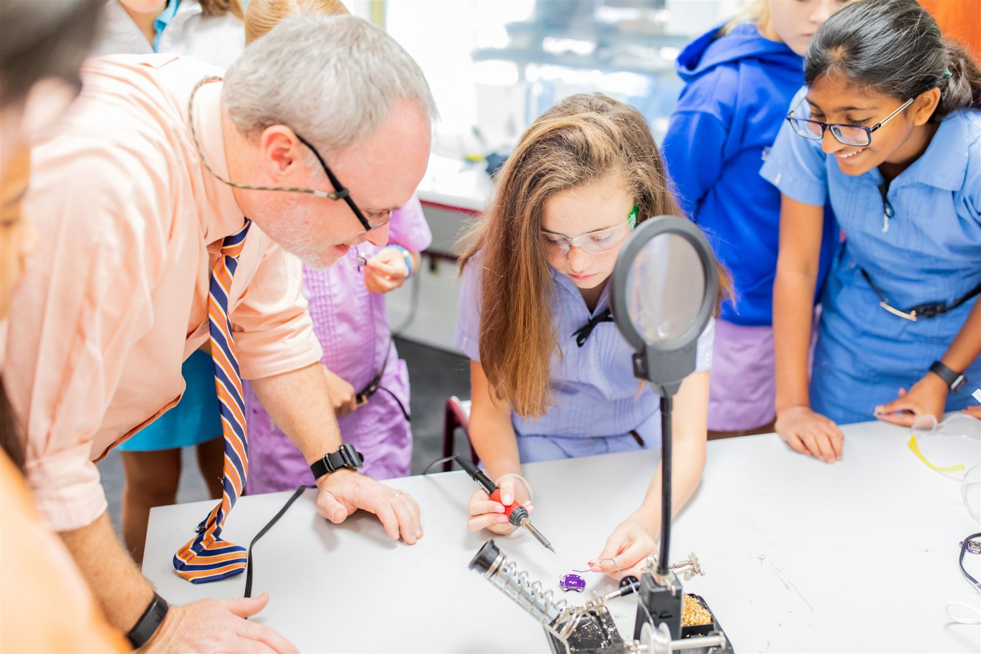 Middle School STEM Class provides a deeper dive into design thinking and prototype creation.