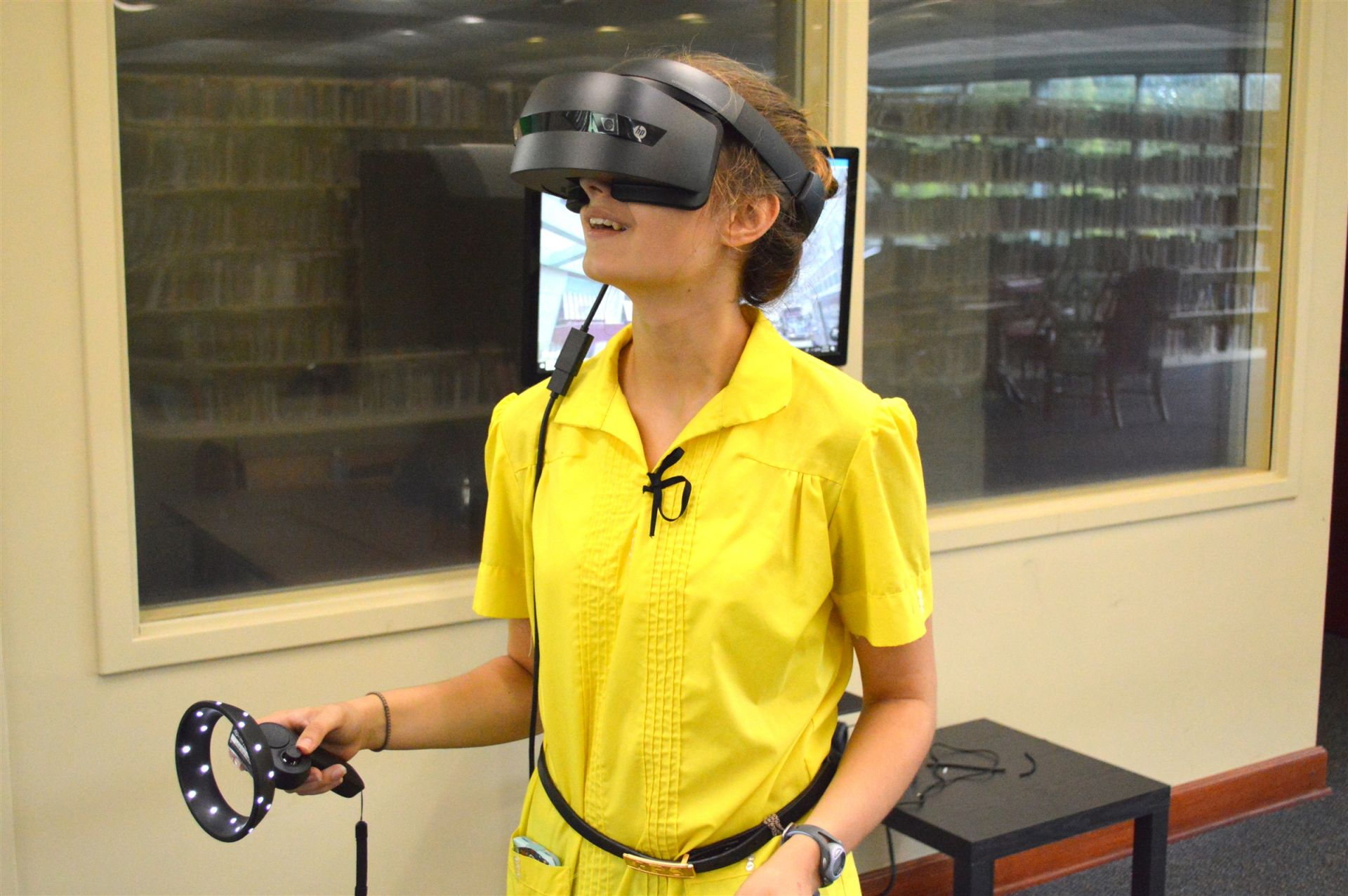 Students use virtual reality software to enhance their studies. In Anatomy and Physiology, for example, students tour the heart and see both internal and external structures.