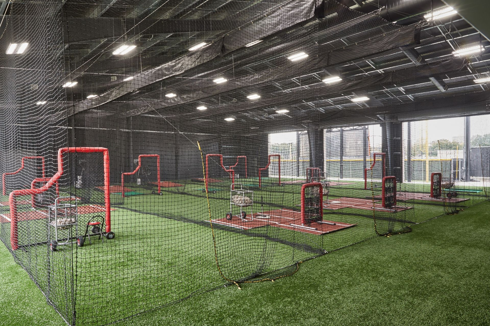 Batting Cage in Ligums Practice Facility