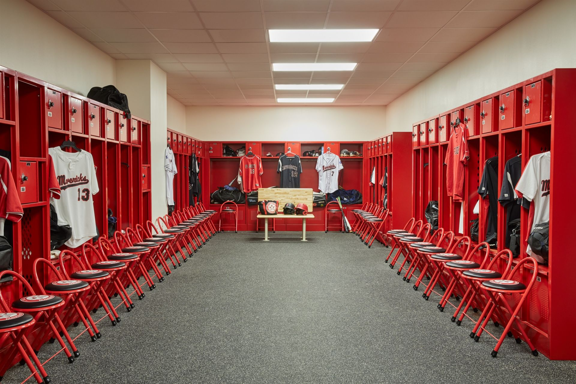 Locker Room in Ligums Practice Facility