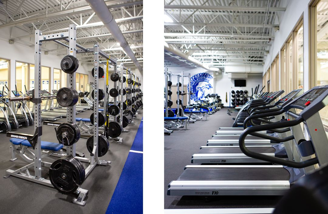 New weight room and workout equipment
