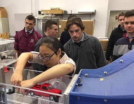 A visit to WPI to see how areodynamics are impacted by car shape