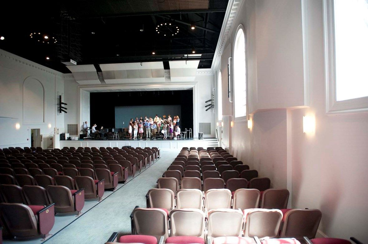Pendleton Hall, a state-of-the-art auditorium with 540 seats