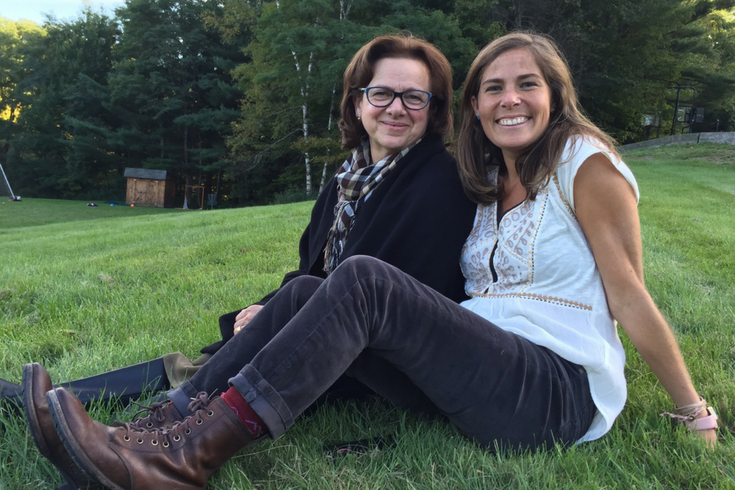 "(L-R) Caryl Frankenberger, Head of School & Aria Carter, Admissions Consultant.        ""Greenwood is a place of hope; it's a place where our boys feel like they have found their tribe: at Greenwood, our students feel like they belong and are understood."""