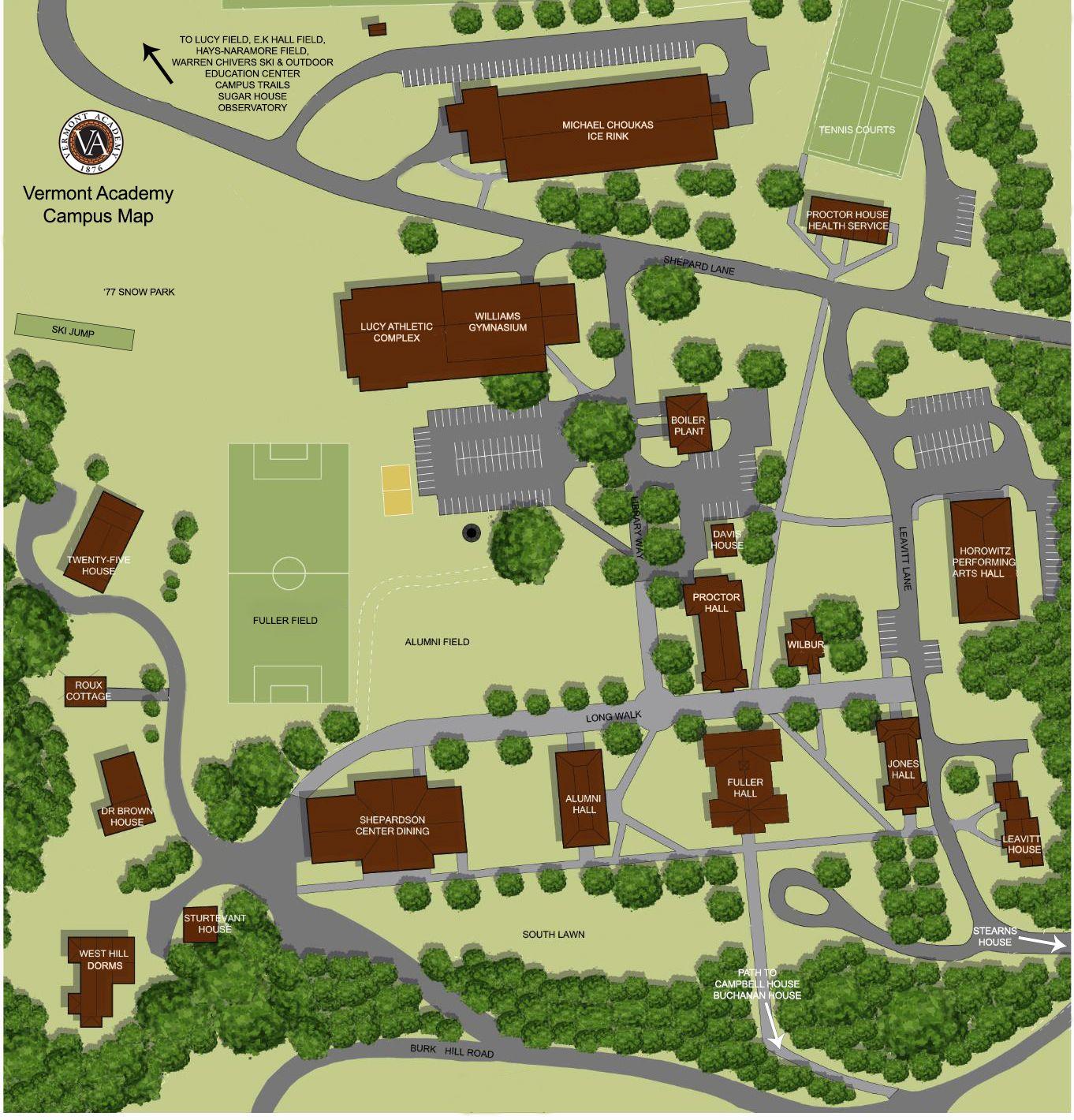Vermont Academy Campus Map