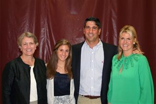 Rick Kleeman, 2011 Distinguished Alumnus with his family and Barbara Riley