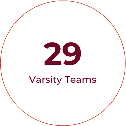 We field 29 varsity teams in 20 different sport offerings. Competitive athletics enhance the Hopkins education, fostering growth and character in our students.