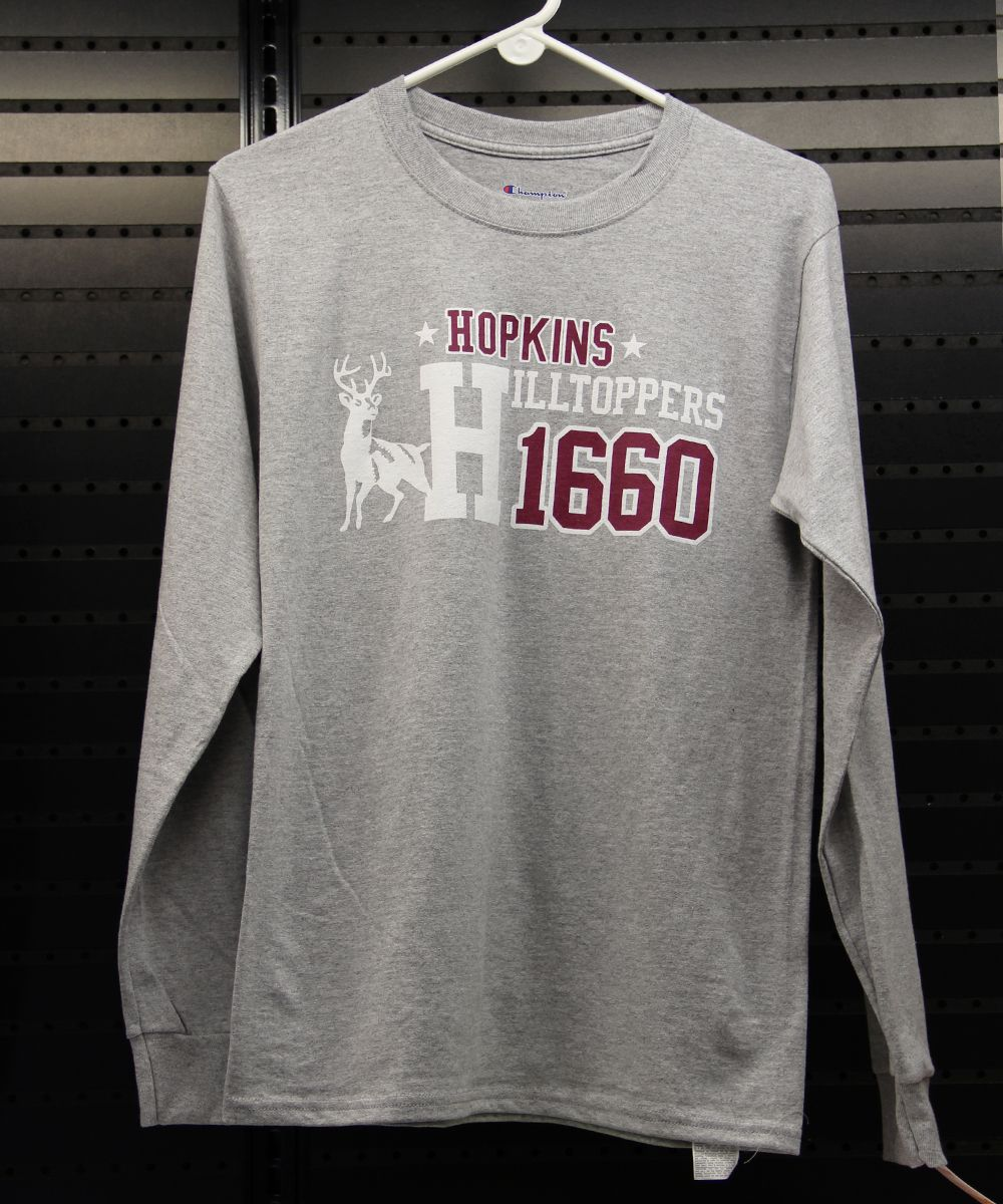 A popular design on a sweatshirt last year that we moved to a long sleeve tee.  Sizes S-XL, $24.00