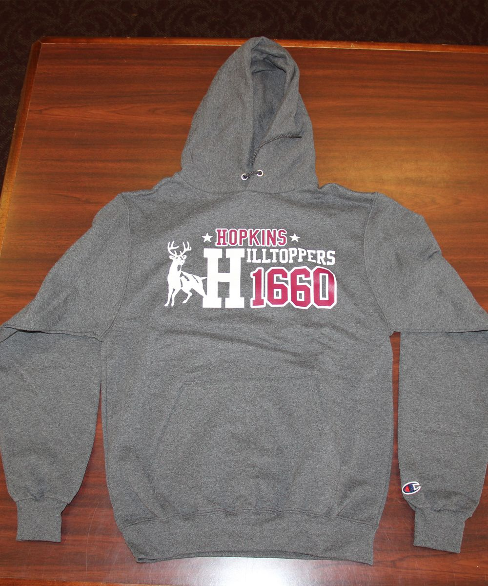 A roomy, soft hoodie.  Charcoal gray.  Sizes S-XXL $48.00