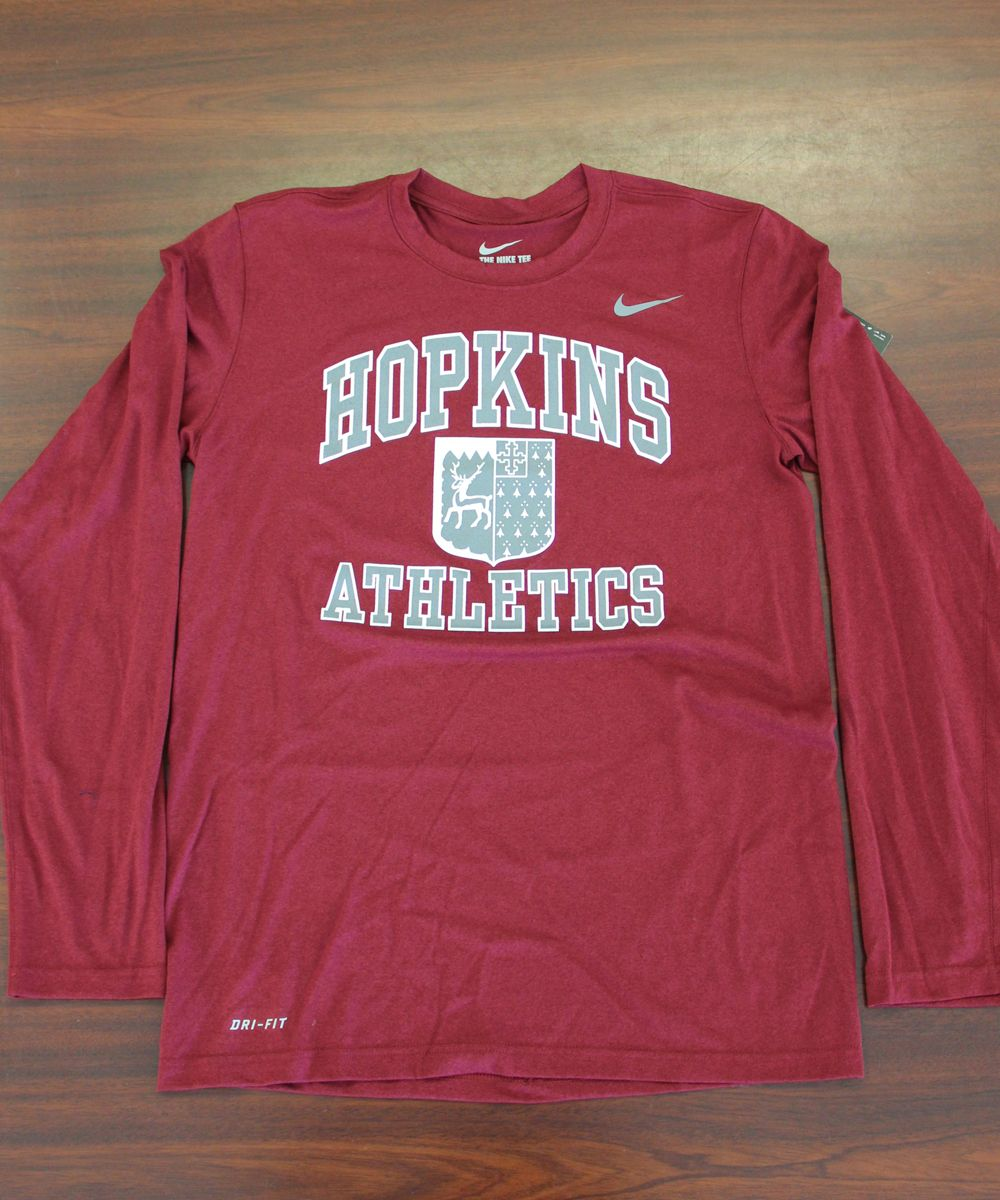 This is a dri fit long sleeve tee by Nike.  Very soft!  Sizes S-XL $30.00  Available in gray and maroon.