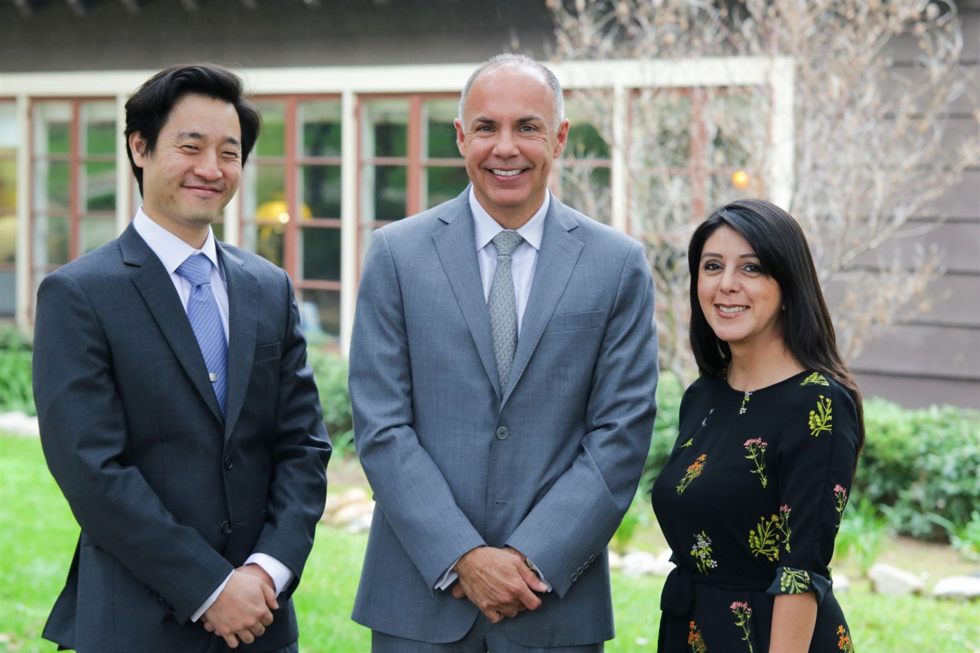 (l-r): Anthony Shin '99, Hector Martinez, Adriana Flores