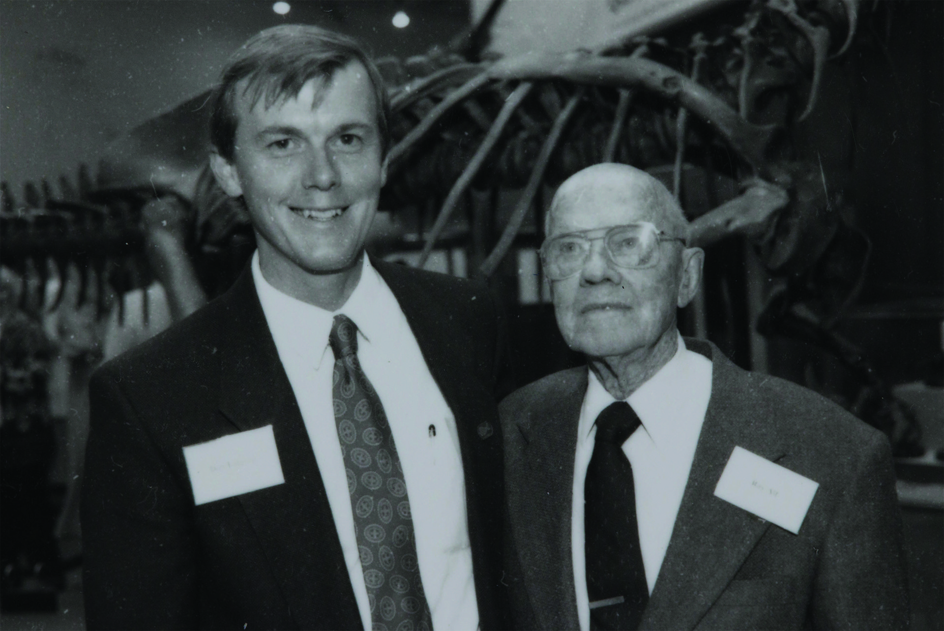 Don Lofgren and Ray Alf at the 1st Peccary Dinner in 1993