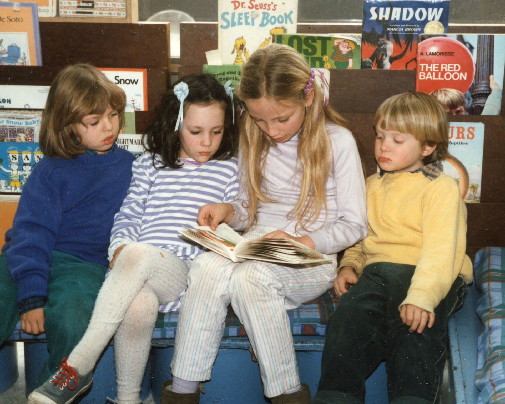 1983: Reading with Special Friends -  Taylor, Annie, Nina, Kieran