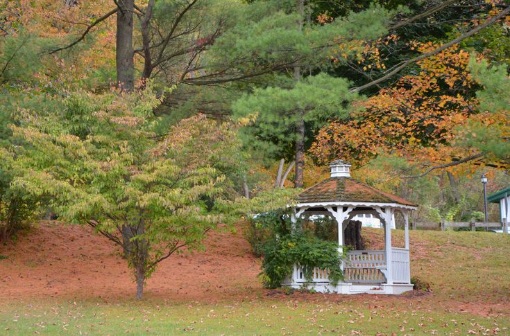 A gazebo on Grier's picturesque grounds.
