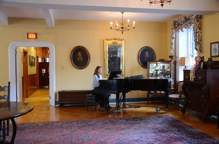 The living room in the original building maintains the rich tradition of Grier's history.