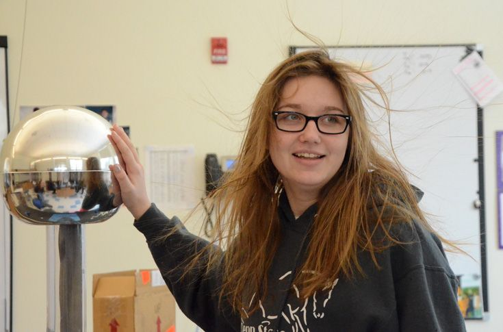 A Van de Graaff Generator provides hands-on experiences with static electricity.
