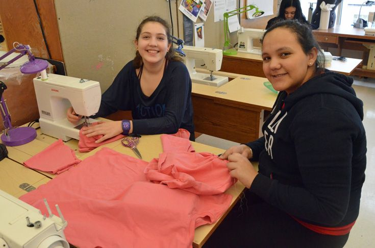 Students in the costume design class have the opportunity to create costume for Grier's musical stage production.