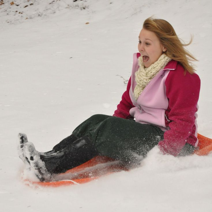 The hilly landscape and snowy Pennsylvania winters make for excellent sledding!