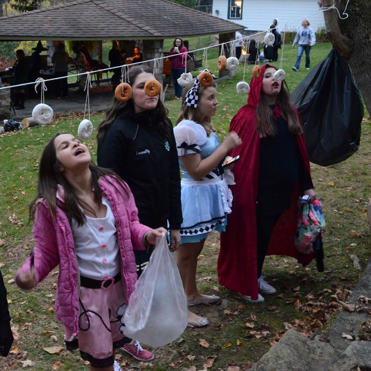 Grier girls celebrate holidays, such as these girls celebrating Halloween by dressing up and participating in a silly competition.