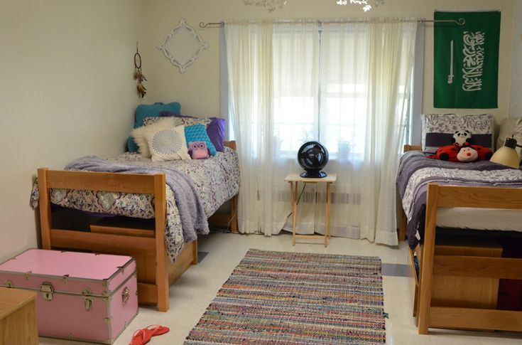Dorm rooms are places to study, socialize, and rest.