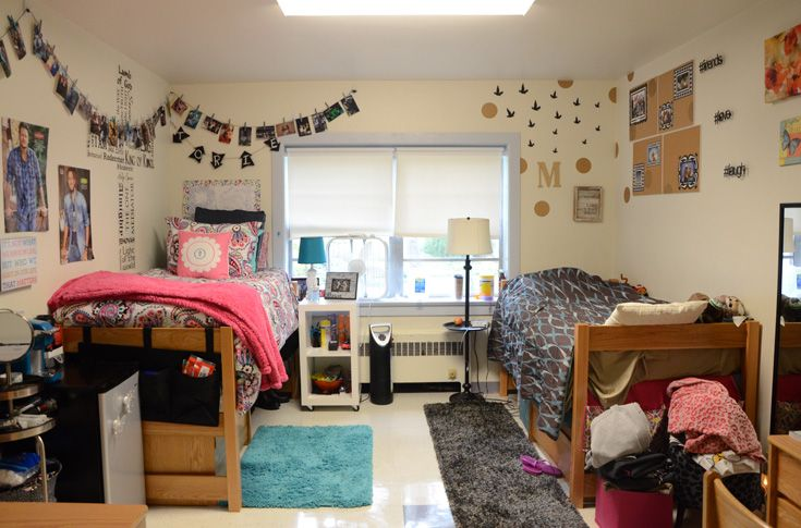 Student can express themselves by decorating their dorms rooms.
