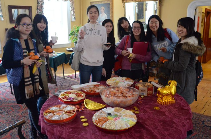 With students from so many different places around the world, Grier is a great place to share cultural traditions. Here, a group of Asian students host a Lunar New Year celebration for the school, featuring authentic food and live music.