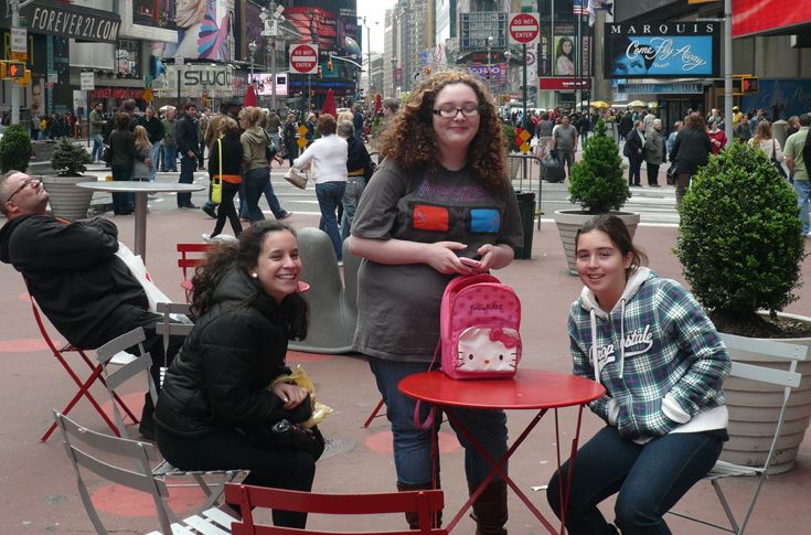 Times Square in New York City is a popular photo spot for everybody, including Grier girls.