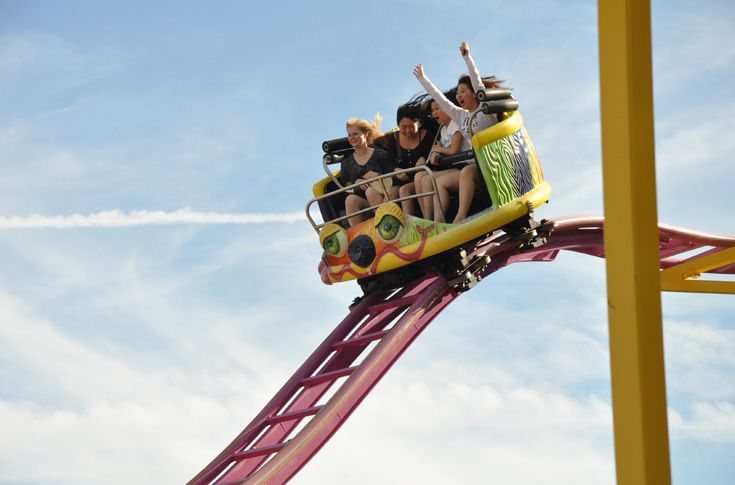Students take in some thrills at local theme parks.