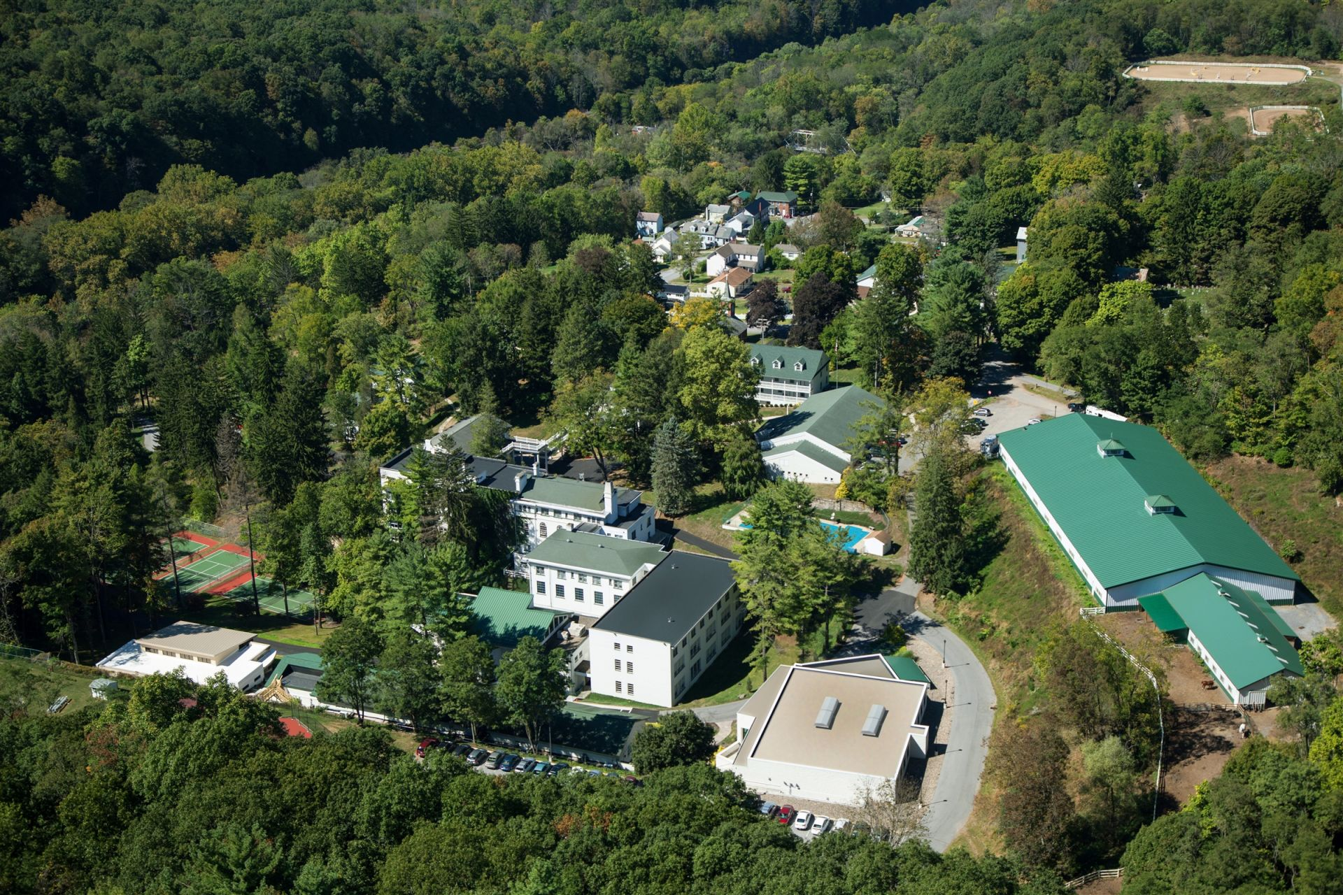 Grier Summer is located on the 325 acre hillside campus of the historic Grier School. The school's facilities, amenities, and accommodations are available for camp to use throughout the summer.