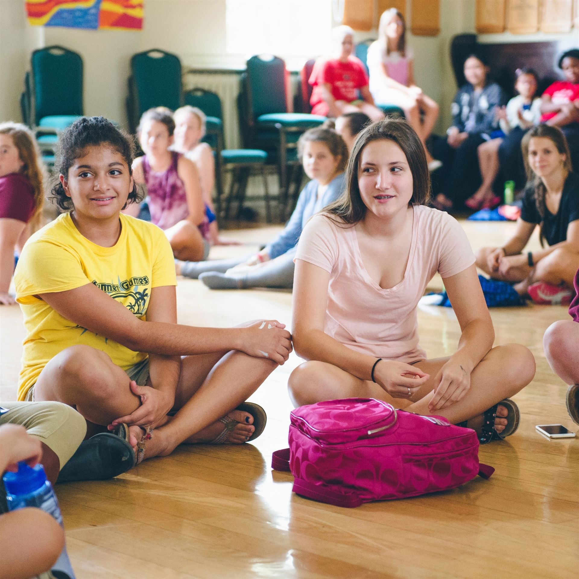 Our staff encourages campers to make new friends and to meet new people.