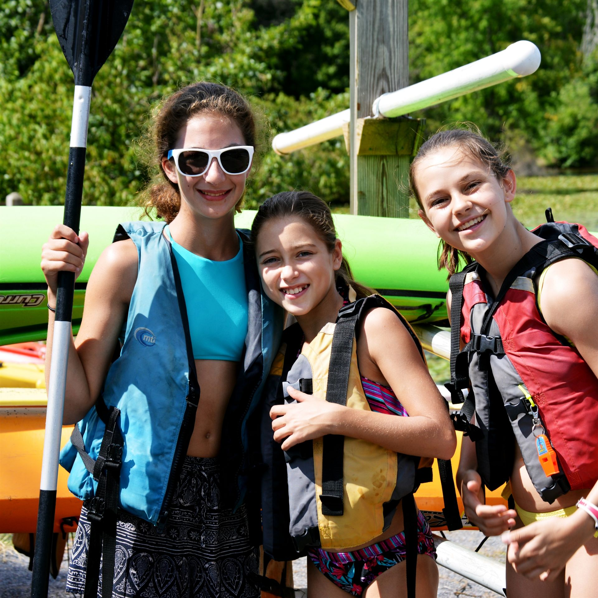 Sunday field trips are to enjoyable locations, such as an amusement park, nearby lakes for boating, and state parks for swimming and exploring.