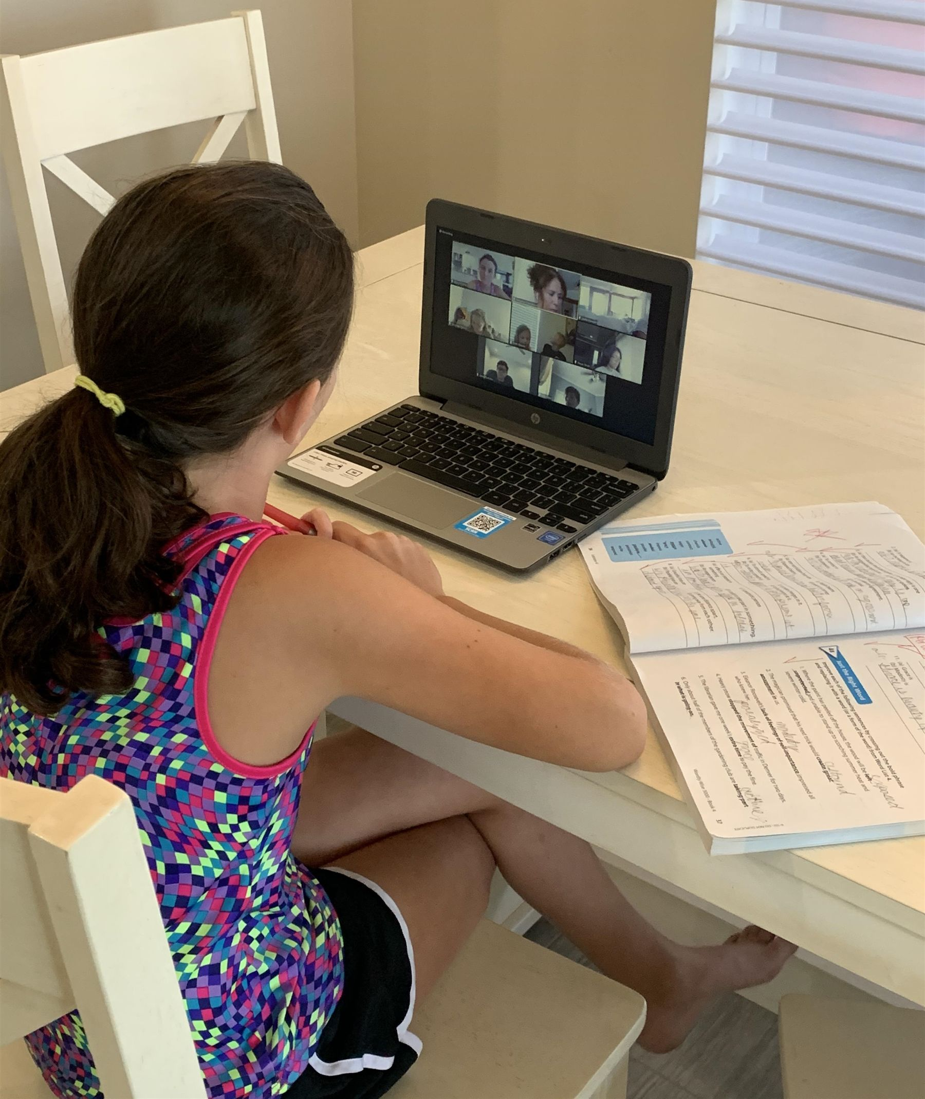 Lower School Remote Learning Student