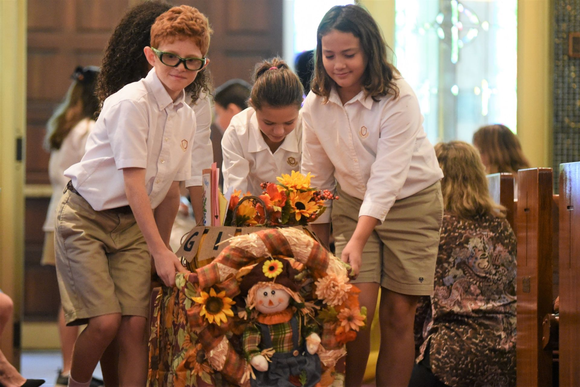 Holy Trinity Lower School Thanksgiving Basket Blessing