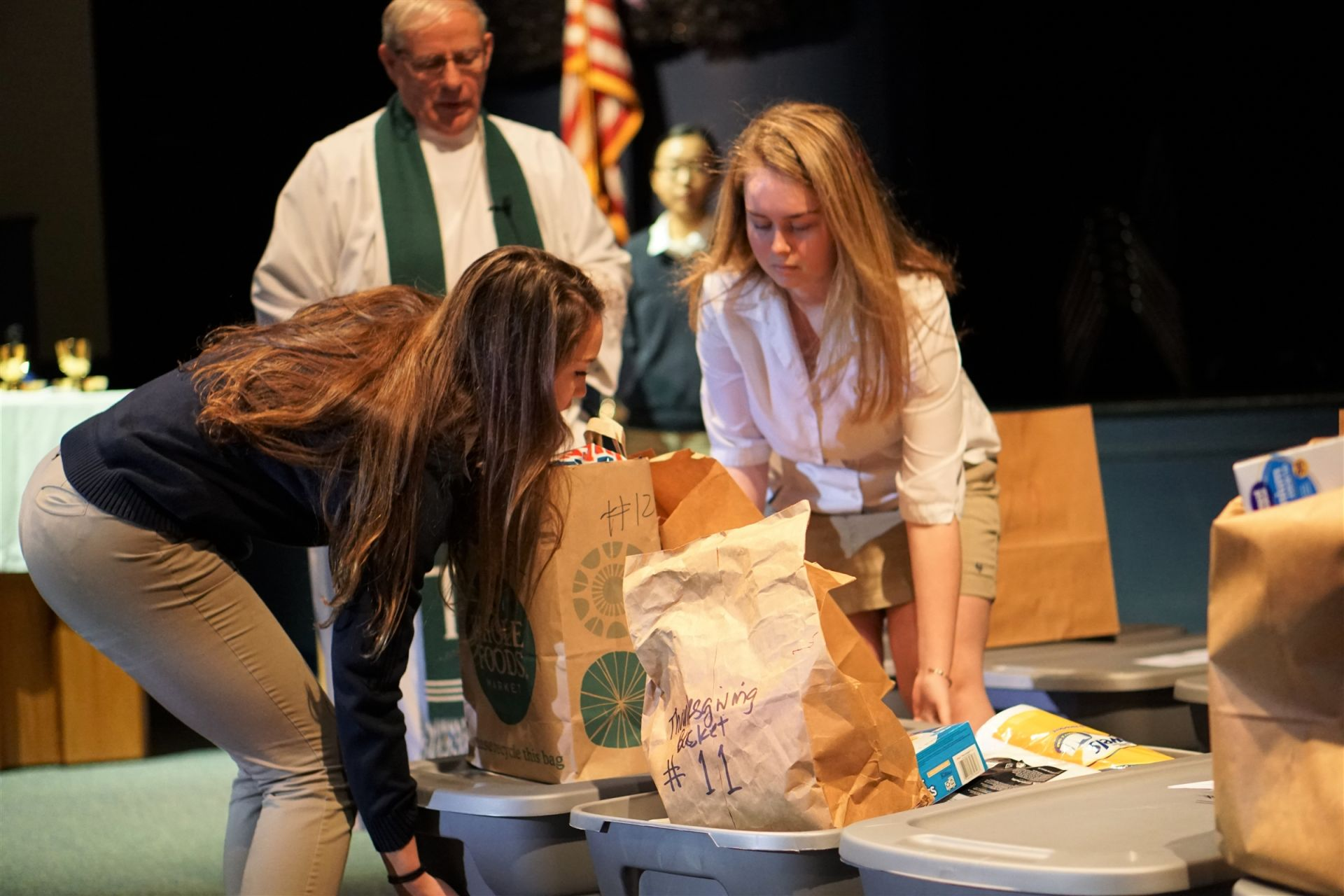 Holy Trinity Upper School Thanksgiving Basket Blessing