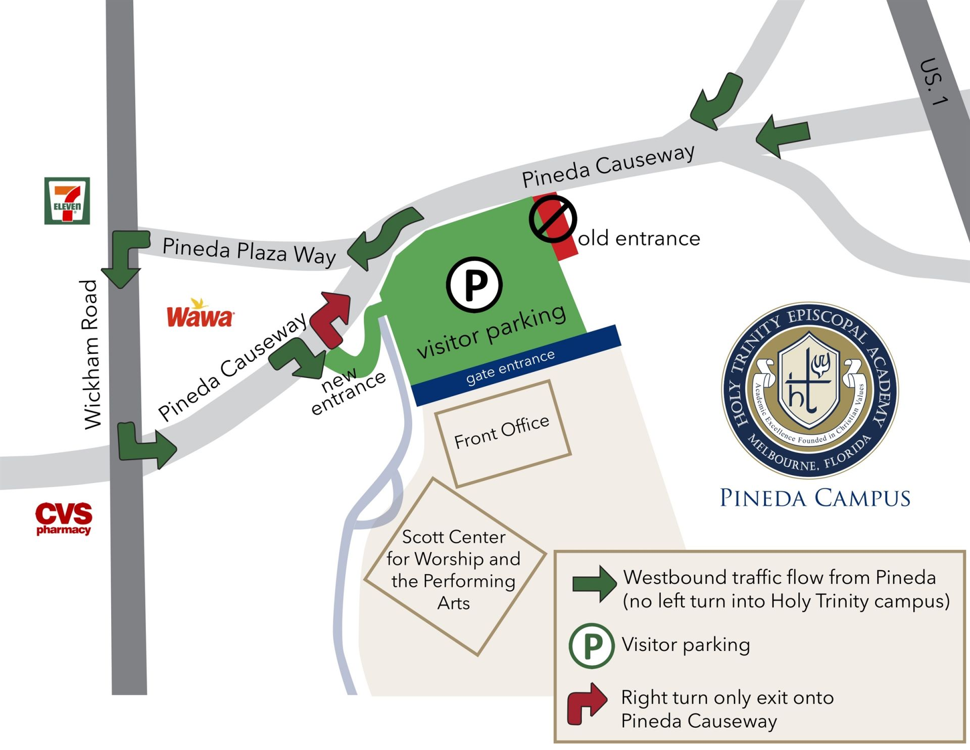 Map of new entrance to Holy Trinity
