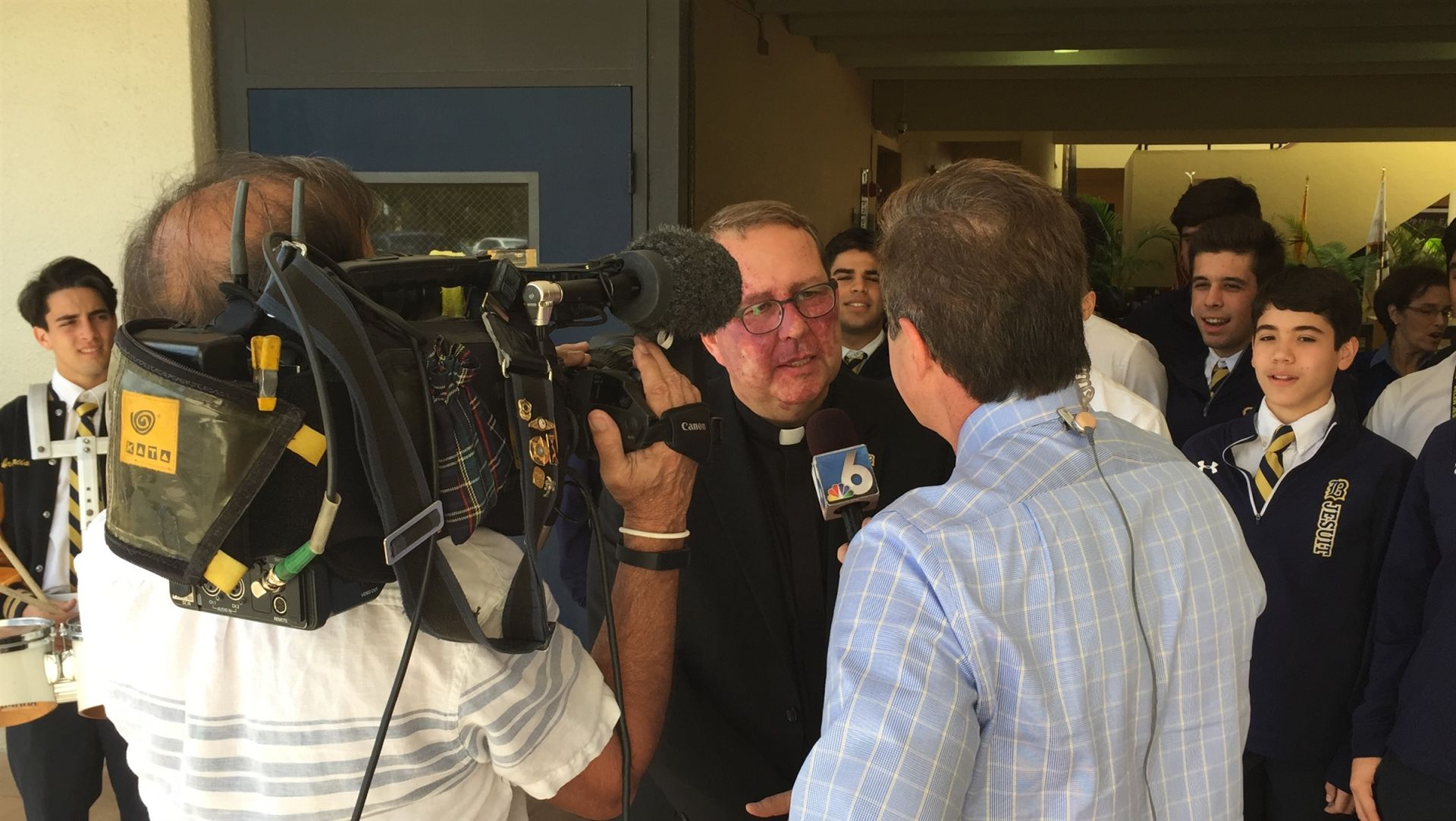 Fr. Willie was interviewed by reporter Ari Odzer, NBC 6 for the education segment