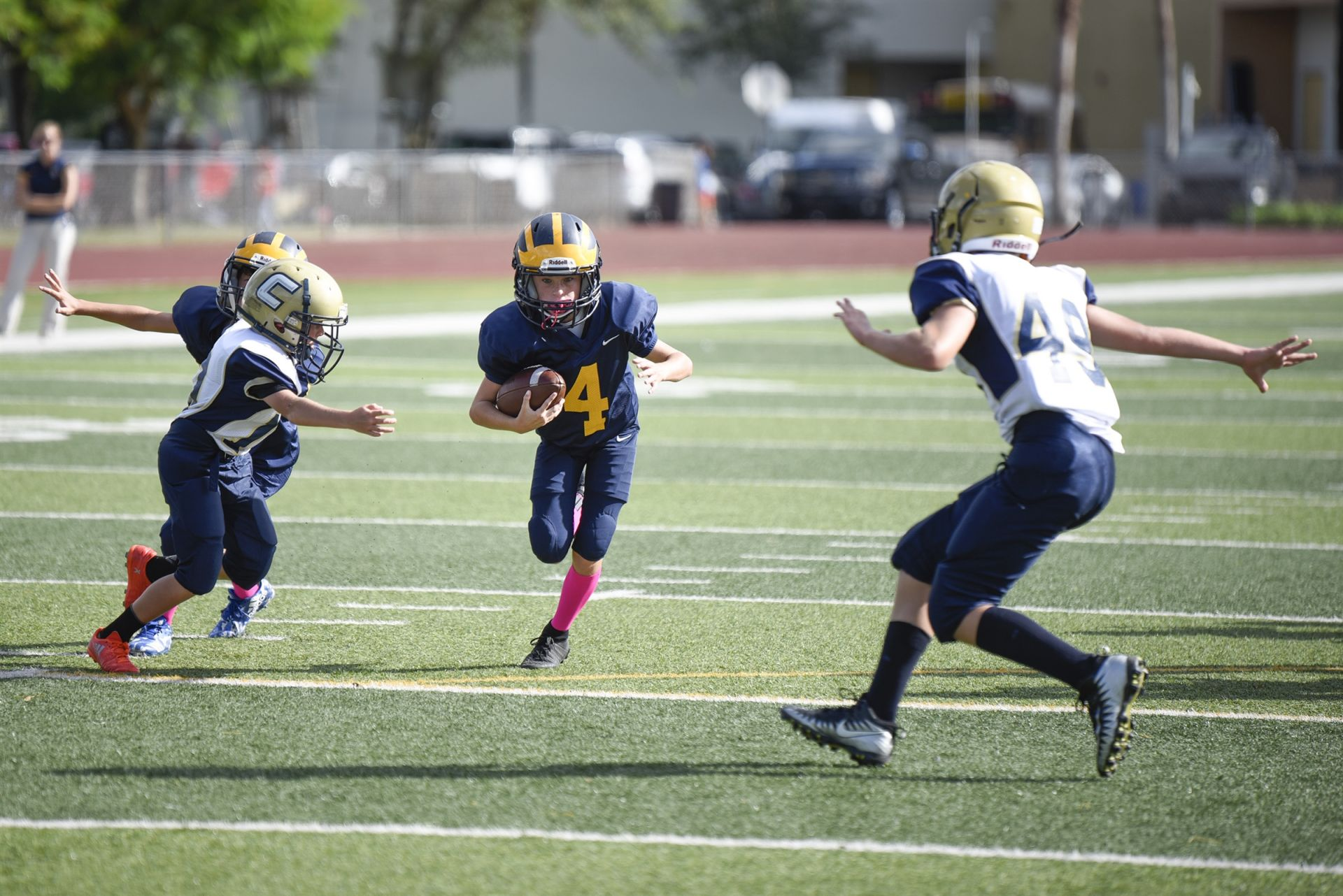Sixth grade football game against Christian Calvary on October 16, 2018.