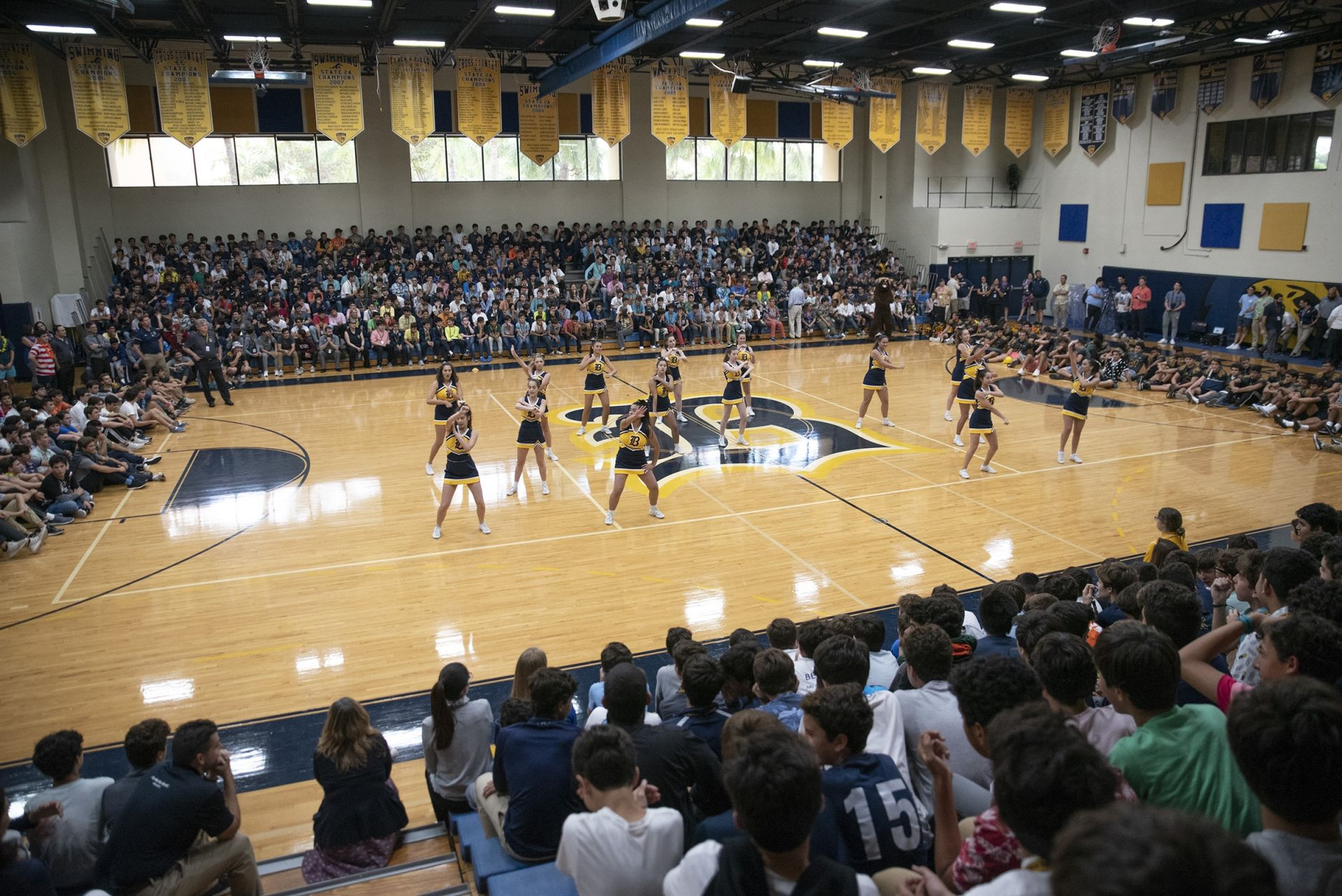 Homecoming Pep Rally on October 18, 2018.